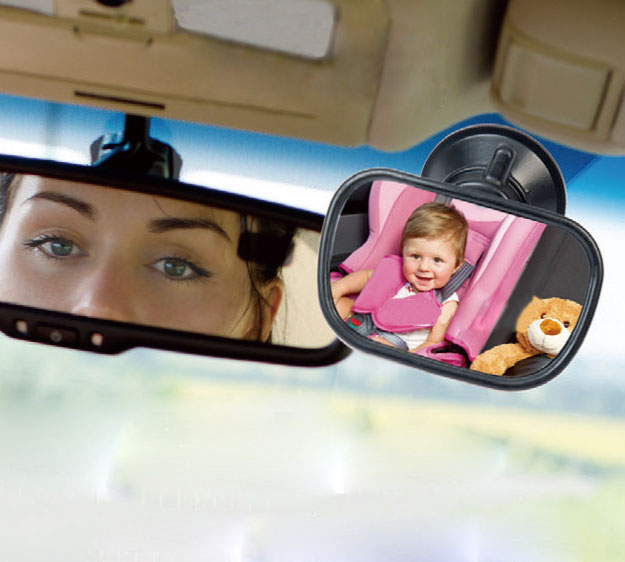 Mini Acrylic Suction Clip Installing Baby View Car Rearview Mirror For Child Safety Seat On The Visor And The Windshield(China (Mainland))