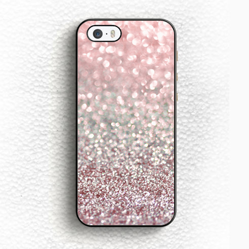 Girly Pink Snowfall Printed Soft TPU Black Skin Mobile Phone Case For iPhone 6 6S Plus 5 5S 5C SE 4 4S Back Shell Case Cover(China (Mainland))