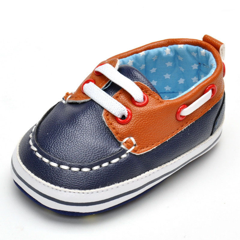Spring 2016 new casual male baby toddler shoes 0-1 years infant sneaker soft bottom baby first walk shoes(China (Mainland))