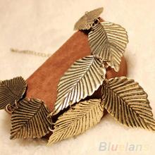 Trendy Women Bohemia Leaves Leaf Multilayer Pendant Chain Bib Choker Necklace pendants Jewelry 01Y7