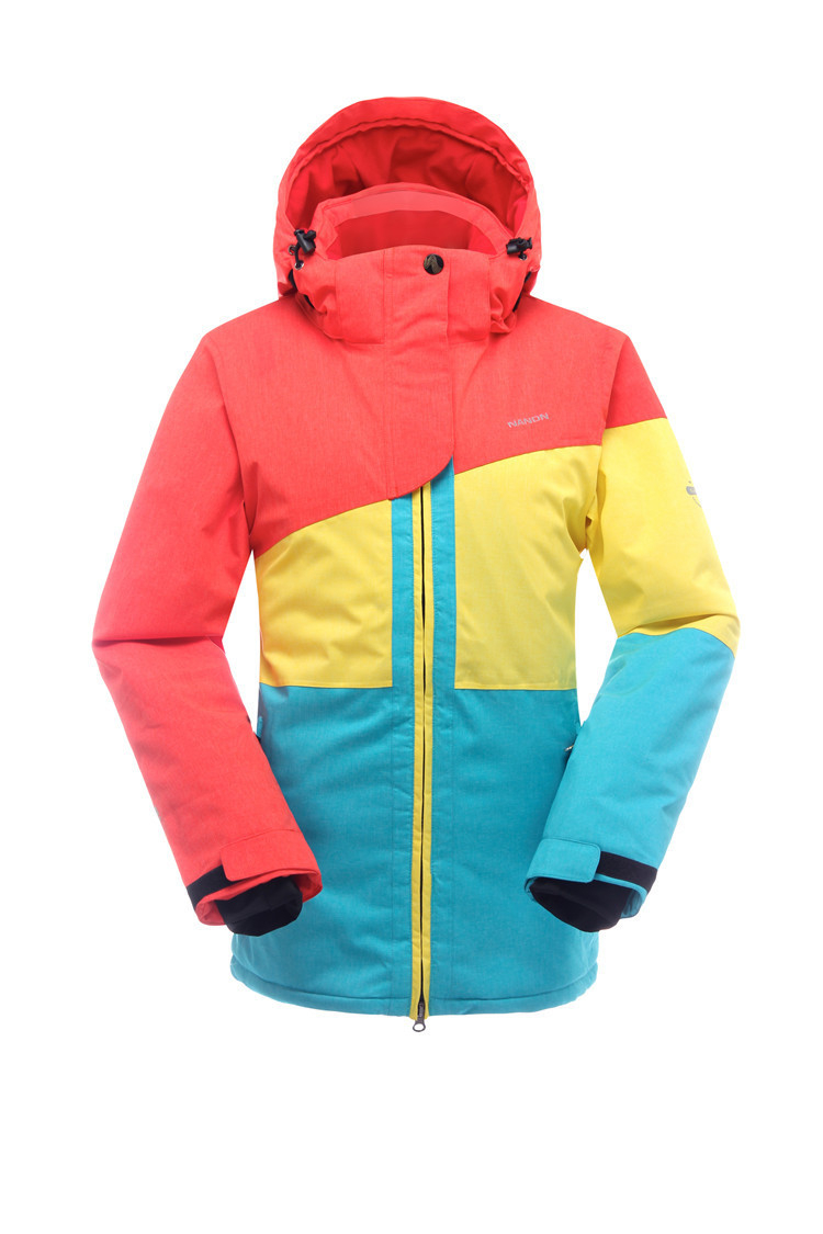 Fashion Women Skiwear Mountaineering Suit Waterproof Windproof Breathable Outdoor Snowboard Jacket Color Matching Models<br><br>Aliexpress