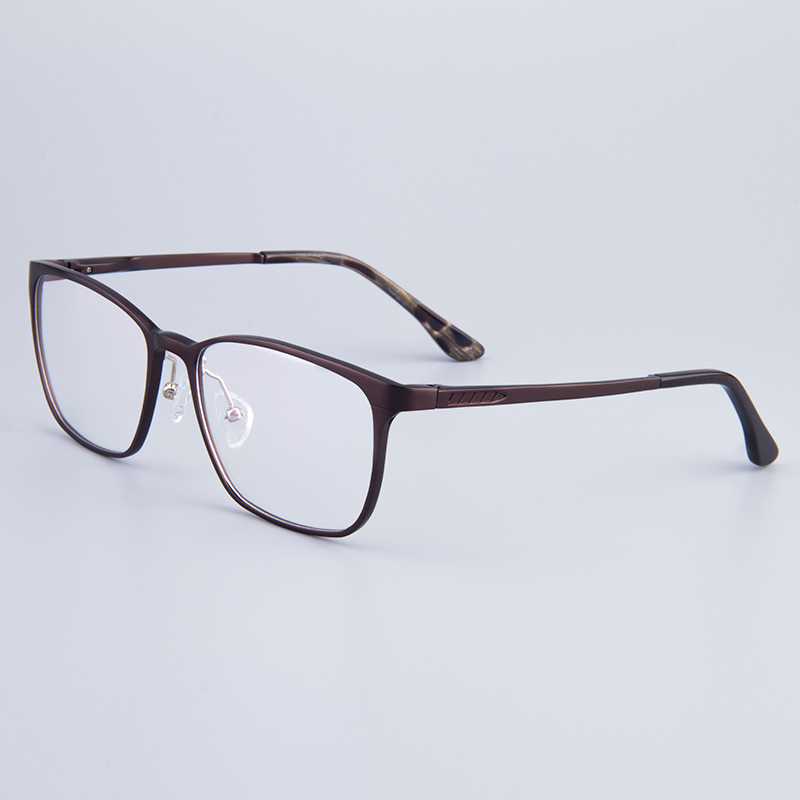 Aircraft Material Rectangle Full-Rim Optical Frames Women Glasses Frame Men Hydronalium Glasses Frames With Spring Hinge On Legs(China (Mainland))