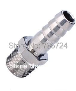 tube 8mm-1/4 PT thread Brass Barb Hose Connector, Garden Hose Fitting