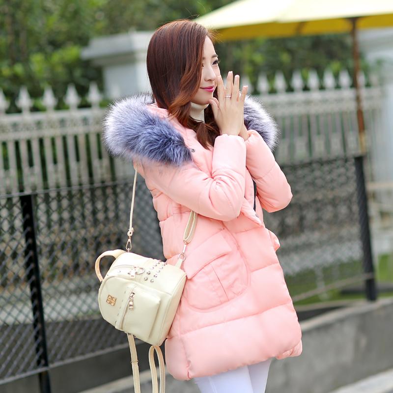 New 2016 Winter Loose Down Cotton-padded Jacket Mantle Type Female Medium-long Thickening Wadded Women Coat(China (Mainland))