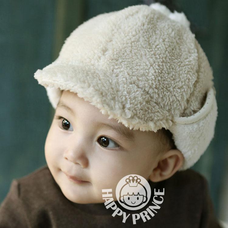 2016 New Warm Winter Childrens Hats Plus Velvet Bone Protecting Ear Lei Feng Caps Boys Girls Baby Bomber Hats(China (Mainland))