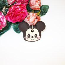 Hoạt Hình Anime Dễ Thương Chìa Khóa Nắp Silicon Mickey Gấu Stitch Móc Khóa Nữ Tặng Cú Porte Clef Hello Kitty Minne Chìa Khóa dây chuyền(China)