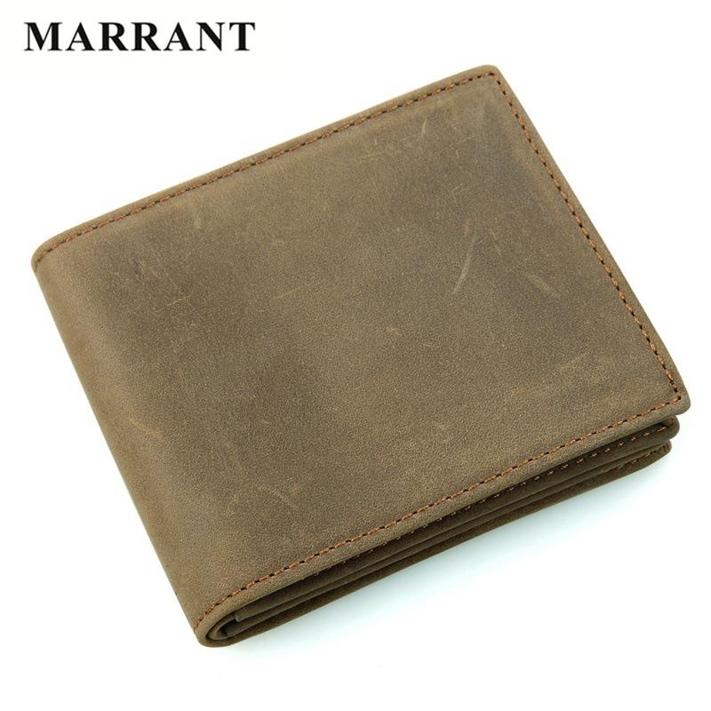 MARRANT Brand Men Wallet Men's Genuine Leather Wallets Vintage Crazy Horse Leather Short Purse Money Card Holder Man Wallets(China (Mainland))
