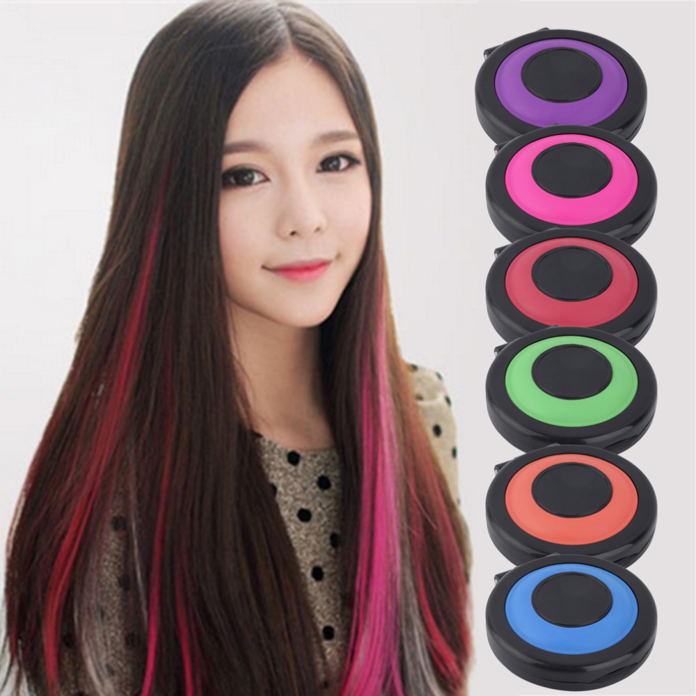 Professional 6 colors temporary hair dye powder cake for A salon to dye for