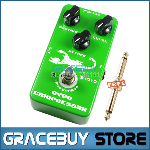 Electric Bass JOYO JF10 Dynamic Compressor Guitar FX Effects Pedals Attack Level Sustain True Bypass