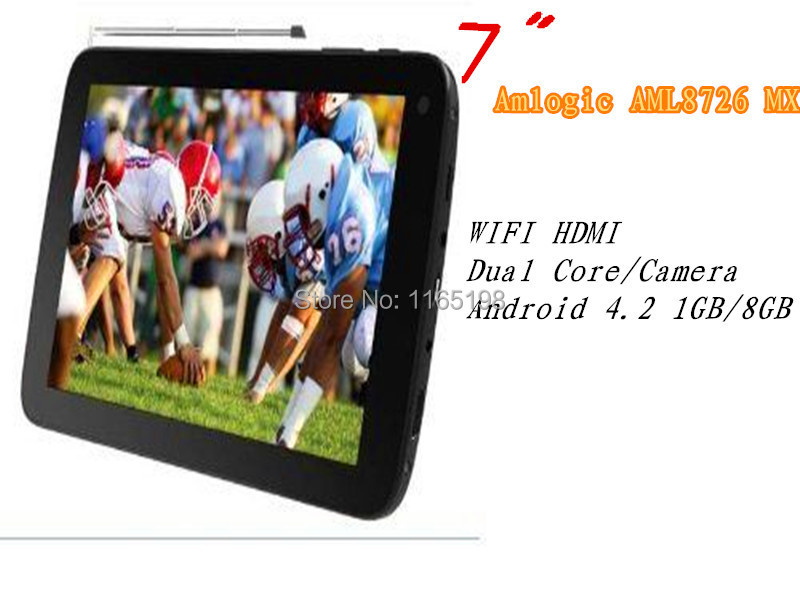 Hot !!! New 7 inch SuperSonic SC-77TV Amlogic AML8726 MX Dual Core/camera1GB/8GB WIFI HDMI Android 4.2 multi-language tablet pc(China (Mainland))