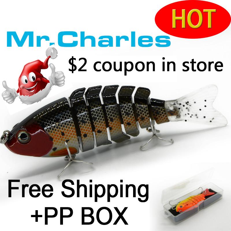 Гаджет  Mr.Charles 2015 new  fishing lures   75.5mm/20g singking quality professional 7 Segment Swimbait Crankbait Hard Bait None Спорт и развлечения