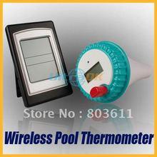 Niza inalámbrico Digital LCD piscina Bath Spa temperatura del termómetro transmisor + receptor Top