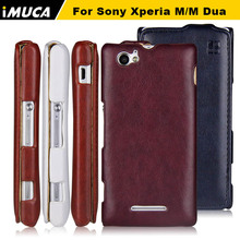 Buy IMUCA genuine leather case Sony Xperia M Dual C1904 C1905 C2004 C2005 luxury leather flip case cover sony Xperia m dual for $5.53 in AliExpress store
