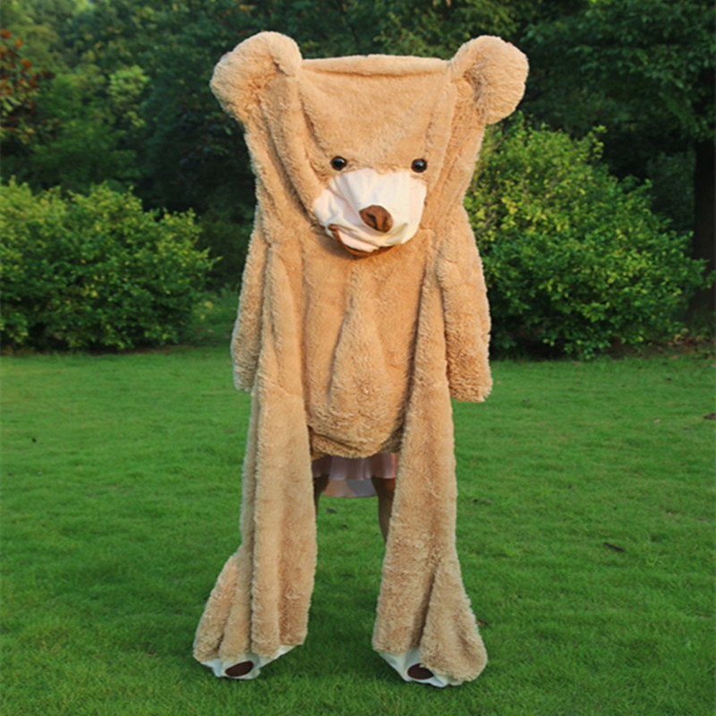340cm Huge Bear Skin Giant Bear Skin Teddy Bear Hull,Super Quality Toys Plush for Girls(China (Mainland))