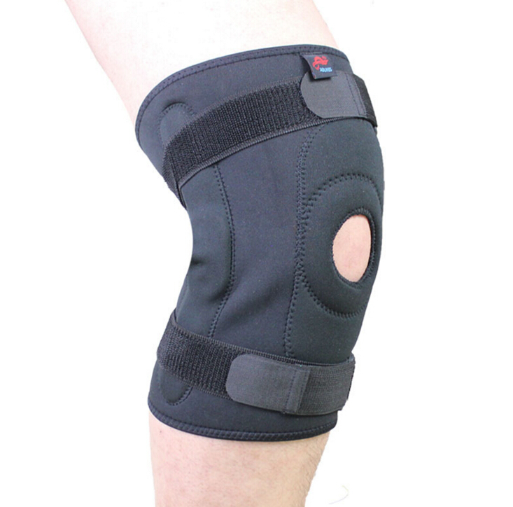 Knee support neoprene knee support with pressurized steel spring mountain-climbing knee support strap medical knee pads(China (Mainland))