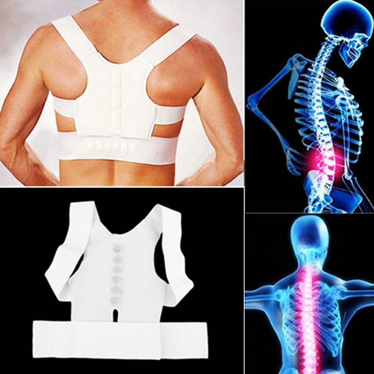 Hot Selling 1 pcs Bulder Magnetic Body Back backpack Pain Posture Supportelt Brace Sho Corrector and cheap Store(China (Mainland))