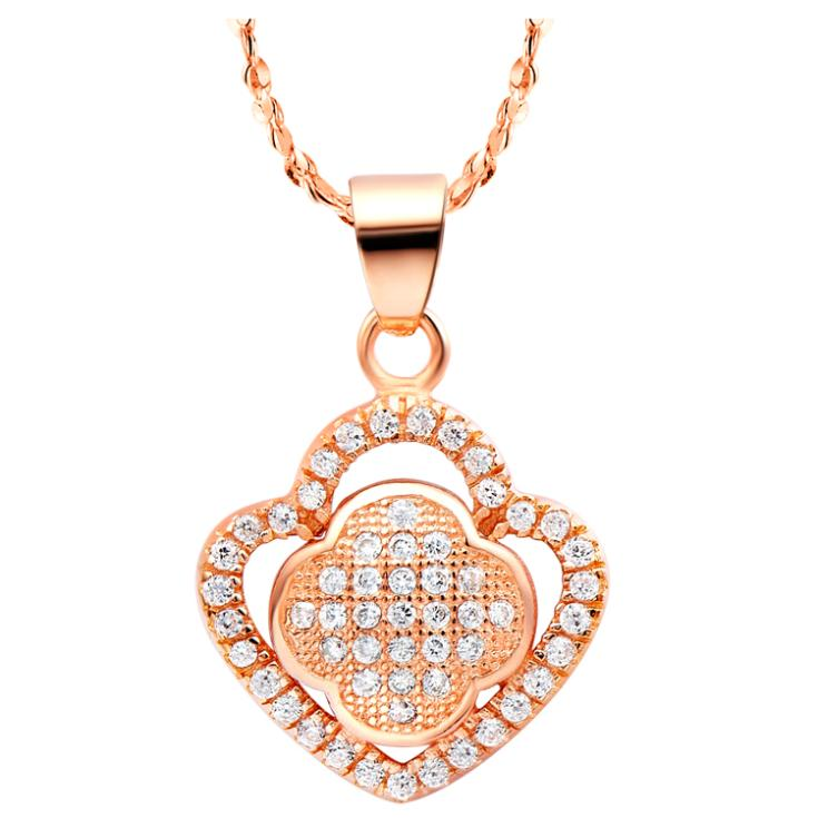 New Arrival Fashion Simple Women Necklace Noble Shining Mini Crystal Pendant Real Gold 18 K Plated Luxury Jewelry Necklaces N500(China (Mainland))