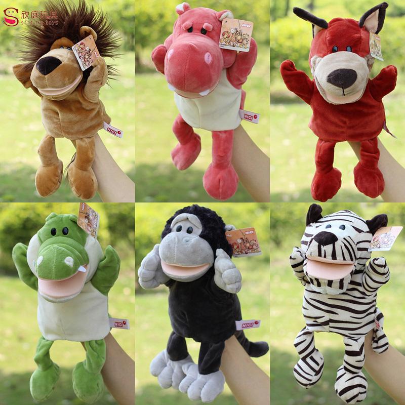 1 Pcs Children Animal Puppet Toy Classic Large Hand Puppet Plush Doll Learning Educational Novelty Cute Dog Monkey Lion Muppet(China (Mainland))