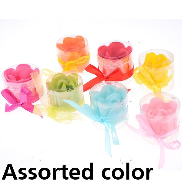 Buyfook Flower Soap Bath Confetti Dissolving Paper Soap Paper Perfumed Soap Valentines Gift - Color Assorted HLI-149720(China (Mainland))