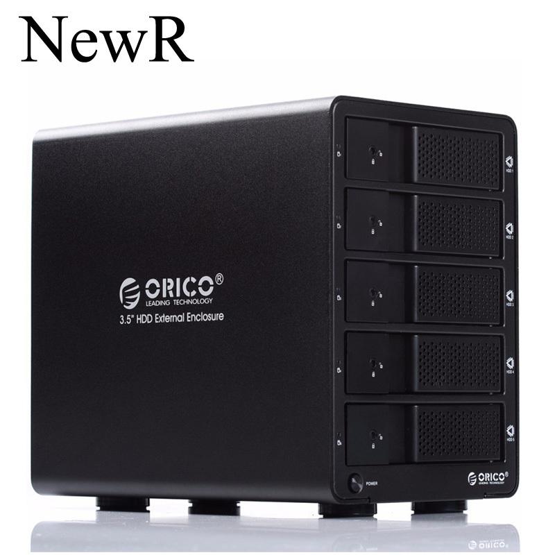 ORICO 9558U3-BK 5-bay 3.5 USB3.0 ESATA  HDD Enclosure HDD Docking Station Case for Laptop PC (Black)<br><br>Aliexpress