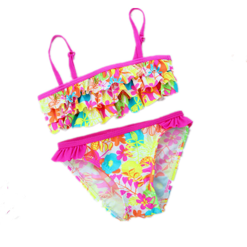 Girls bikini set biquini infantil Girl swimsuit girl swimwear girls two pieces swimming suit children 3-8 age