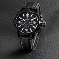 New Vogue Fashion V6 3D surface Case Black Male Analog Quartz Watch Military Men Business Casual