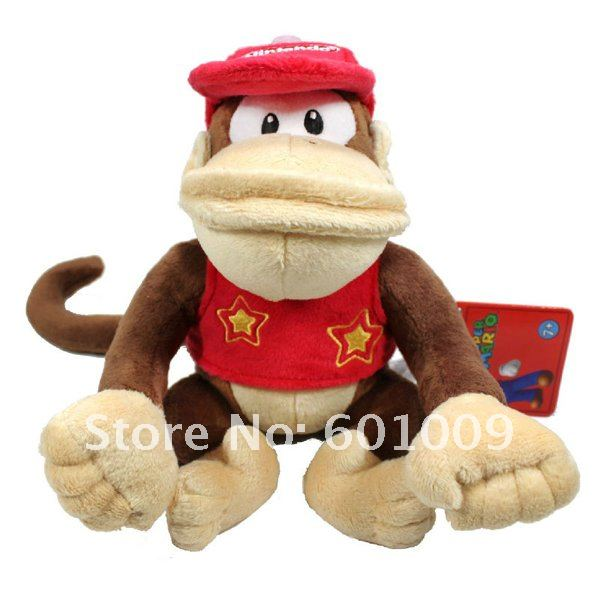 "Free Shipping EMS 50/Lot Super Mario Diddy Kong 12"" Plush Doll Soft Toy Wholesale(China (Mainland))"