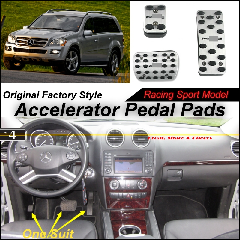 Car Accelerator Pedal Pad / Cover Factory Sport Racing Design Mercedes Benz GL Class MB X164 AT Foot Throttle