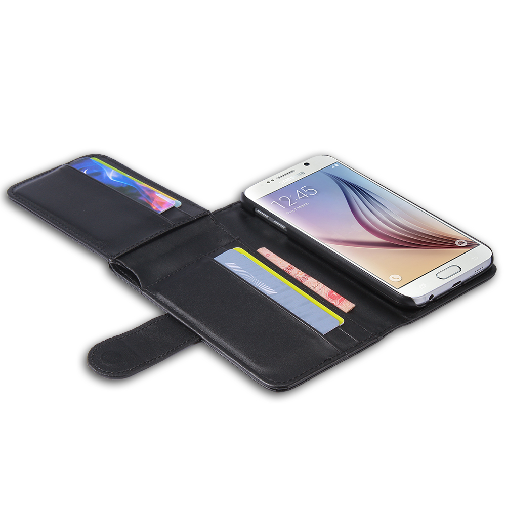 Galaxy S6 Man Style Folded Purse Black Phone Cover Bags-in Phone ...