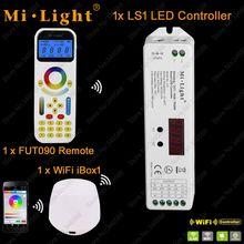 Mi. licht ls1 dc12v 24 v 15a 4 in 1 smart led-controller für einzelne farbe, CCT, RGB RGBW Streifen + 2,4 GHz Remote FUT090 + WiFi iBox1(China (Mainland))