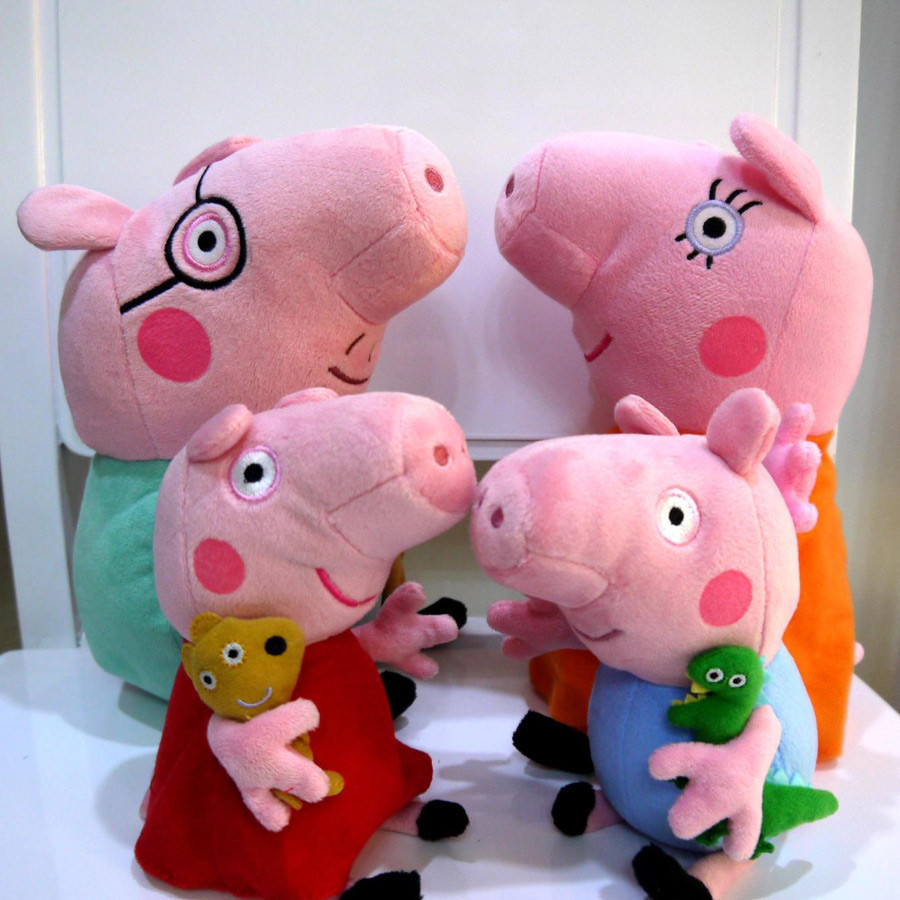17 cm 1pcs pink pig friend family plush toy sales sets pink pig stuffed animals George doll pepa Brinquedos baby toys(China (Mainland))