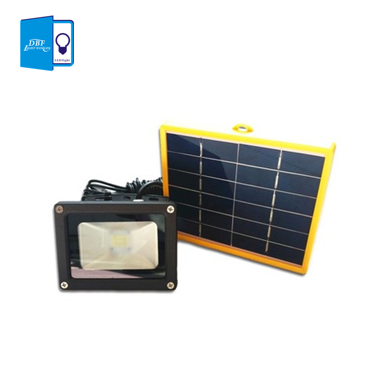 dbf waterproof 10w solar powered led flood light with 5m. Black Bedroom Furniture Sets. Home Design Ideas
