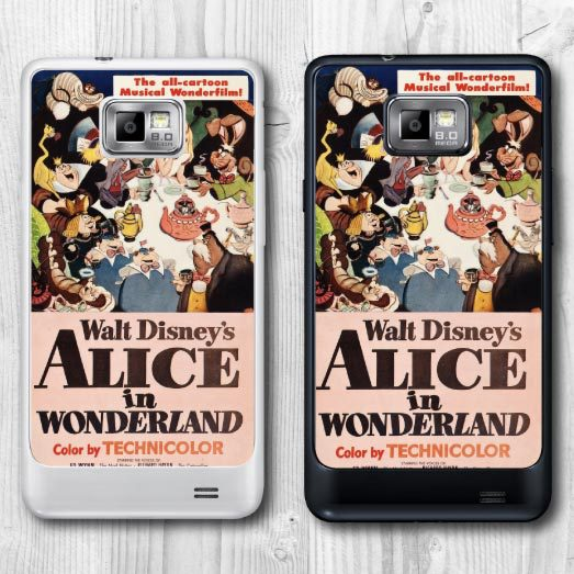 Phone Case For Galaxy S2 I9100 - Alice In Wonderland Retro Movie Poster Protective Cover, Hot New Item For Wholesales And Retail(China (Mainland))