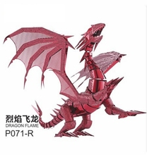 New Arrivals 3D puzzle Dragon Models 3d metal model DRAGON FLAME Metal Puzzle scale model kit adult/children educational toy(China (Mainland))