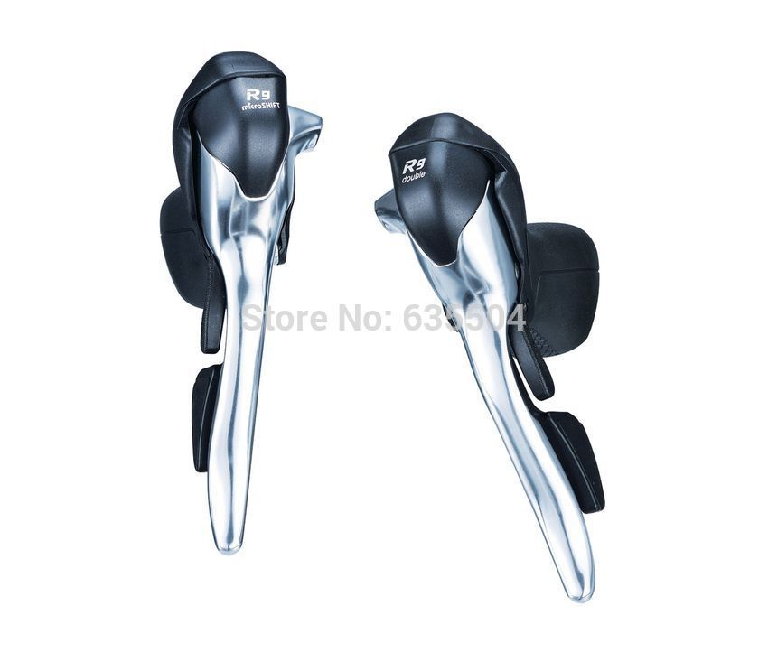 Фотография microSHIFT Road Bike R9 Shifters 18/27 Speed Shifters Lever SB-R492 (2x9S)/SB-R493 (3x9S) Shift Lever Compatible for Shimano