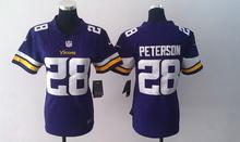 2016 Women Ladies Minnesota Vikings, 5 Teddy Bridgewater 28 Adrian Peterson 84 Cordarrelle Patterson(China (Mainland))