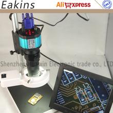 2 in1 2.0MP VGA/AV Digital Industry Microscope Camera set kit+100X C-Mount Lens+56 LED ring Light+stand holder +8 inchLCD screen - HK 1Kins Technology Co Ltd (Electronic Repair DIY Tools store)