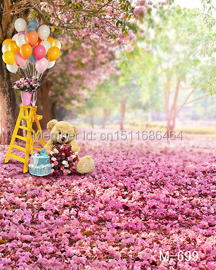 style 5x7ft Photography Backdrops Photo Studio Computer Painted baby mini pink background tree m-699 - JOYL backgrounds Co.,Ltd store