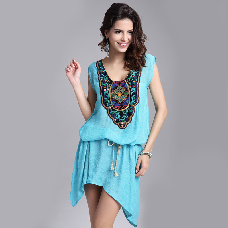 Plus Size Womens Tops Fashion 2015 Casual O-neck Embroidery Woman Clothes Vestidos T Shirt Women Tops(China (Mainland))