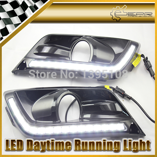 New Car Styling Auto Lamp For Honda Crider 2013-2014 Black Color LED Daytime Running Light DRL Car Accessories<br><br>Aliexpress
