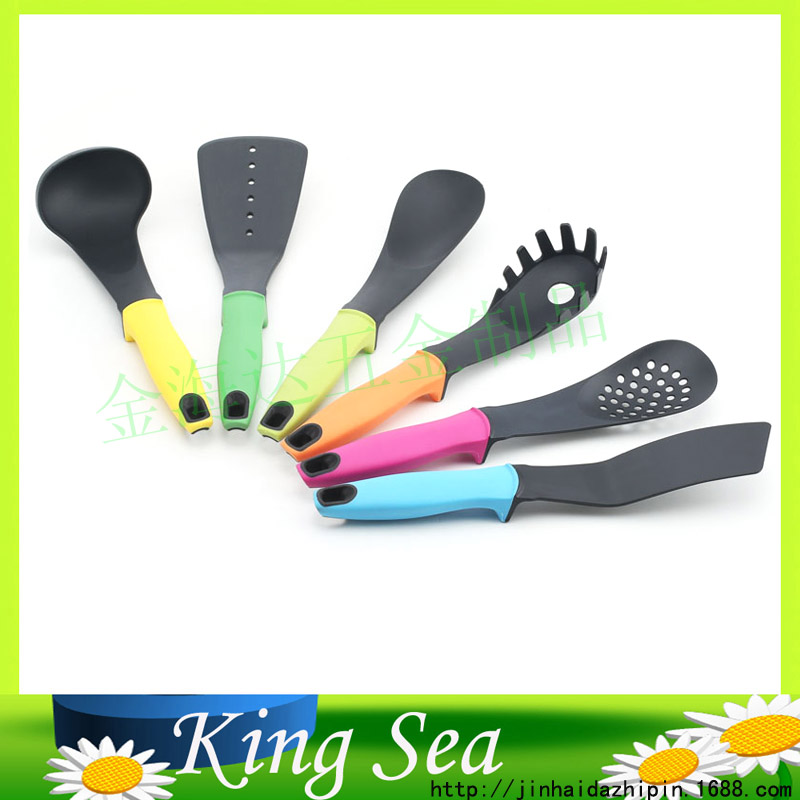 colorful kitchen utensils 6pcs nylon kitchen tools set ForColorful Kitchen Tools