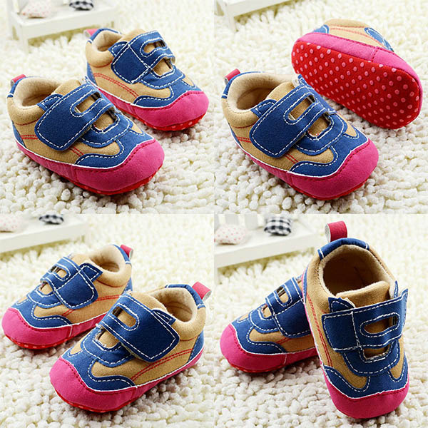 0-18M Hot Toddler Baby Boy Girls Slip Shoes Soft Sole Crib Sneaker First Walkers Freeshipping - Online Store 133674 store