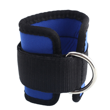 Ankle Strap D-ring Leg Pulley Gym Weight Lifting Multi Cable Attachment Blue Sports Shock-absorbent New(China (Mainland))