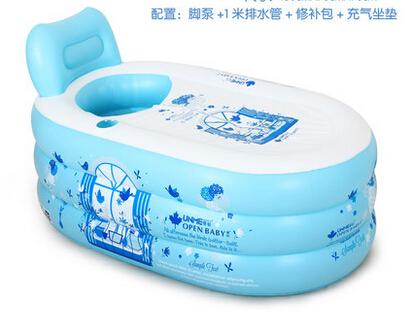 2014 Adult PVC Folding Portable Bathtub Inflatable Bath Tub With Zipper Cover hot sale nice designer(China (Mainland))