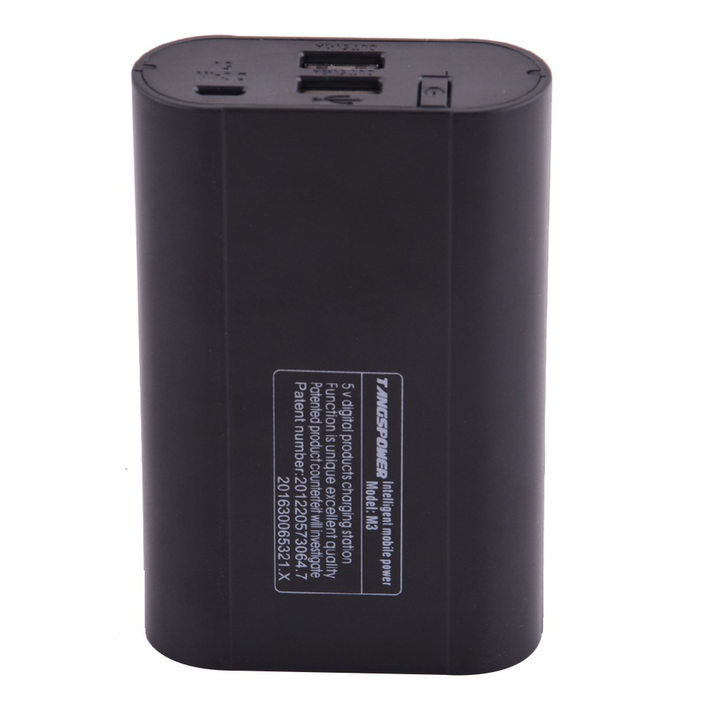 LCD Digital 3pcs 18650 Battery Charger Box Dual USB Portable Power Bank Battery Charger for Phone Tablet PC (No Battery) CDQ03