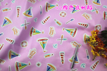 Quilting fabric, pink sailing boat Printed Cotton cotton twill Fabric, baby bedsheet, 62 inch ,BTY, !! - Rose Fabric store
