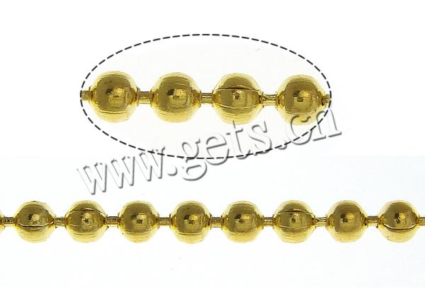 Free shipping!!!Brass Ball Chain,Cheap, gold color plated, nickel, lead & cadmium free, 1.50mm, Length:100 m, Sold By Lot(China (Mainland))
