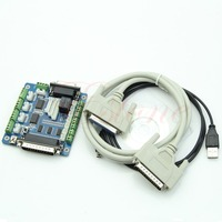 E74 Free Shipping Board Interface Adapter For Stepper Motor + USB DB25 Cable 5 Axis CNC Breakout