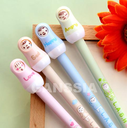 Kawaii Russian doll design design gel pen Gift for children School sharpeners Office suplies(ss-a972)<br><br>Aliexpress
