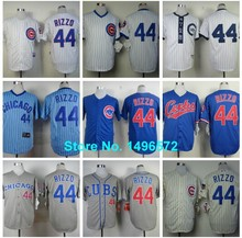 2015 herren Chicago cubs 44 Anthony Rizzo trikot weiß blau cool basis genäht verbindlich baseball trikots stickereifirmenzeichen(China (Mainland))